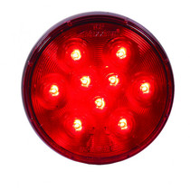 Combine great performance and cost-effectiveness with this Maxxima Lightning Round Red Light. Usable as a taillight or for indicating stopping or turning, it has nine LEDs under a polycarbonate lens and features a slim profile design with a standard PL-3 connector.  - Size: 4 in. | OEM Part Number: M42322RCL