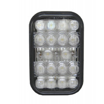 Increase safety at night with these Maxxima Lightning Rectangular Backup Lights. The polycarbonate lens and housing provide durability, and the long life LED bulbs deliver up to 100,000 hours of usage.  - Width: 5.3 in  - Height: 3.4 in  - Depth: 1.8 in  - Voltage: 12.8W | OEM Part Number: M42213