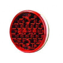 Install this Maxxima Stop/Tail/Turn Light for wide, clearly visible light disbursement. It has a polycarbonate lens and housing that are sonically welded for durability and nickel-plated terminals that resist corrosion.  - Diameter: 4 in.  - Lens thickness: 2.5mm  - Contains 32 LED lights  - Includes surge protection circuit | OEM Part Number: M42320R