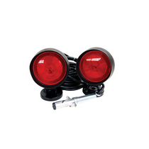 B/A Products Magnetic Tow Lights offer durable, highly visible base mounts to provide safety and security when towing cars, boats or RVs. Their red color is easily seen, and they connect with weatherproof cable and a 4-pin trailer plug.   - Weight: 7 lbs.  - Carry bag included | OEM Part Number: 24-1