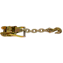 Wide Handle Ratchet with Chain and G70 Clevis Grab Hook WLL 4,000 lbs 38-100-RG,B/A,B/A Products