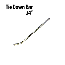 24 in. Tie Down Bars -  Great for use with Auto Haulers! Winch Bars have a gripper handle and chrome plated solid steel design that helps you get a stronger and faster hold. Finish: Chrome Plated Textured Area for Gripping