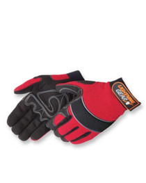 Mechanic Gloves, Red, Crimson Warrior, XL