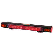 21 in. wireless magnetic taillight system w/ supplemental amber indicators provides stop, tail, and turn signals with ease.