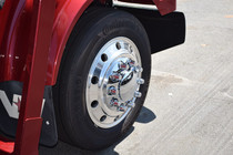 Bundled Chrome Wheel Hubcap Kit - Nut Covers (2 Front and 4 Rear)
