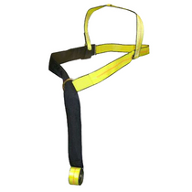 Secure and protect towed vehicles on a flatbed with this Basket Strap Triangle End. Its sewn-in wear pad provides added strength.