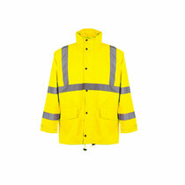 Class 3 Economy Rain Coat High visibility Economy rain suit comes with both an ANSI Class 3 jacket and ANSI Class 3 pants that utilize top performance at an entry-level price.