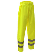 Class E Standard Waterproof Pants Class E / Pants / Safety Rain Pants / Standard / Waterproof 100% ANSI Oxford with PU Coating Waterproof and Sealed Seams Certification:ANSI/ISEA 107-2010 Class E Size: S/M - 4XL/5XL  6801-S/M,GSS,GSS Safety