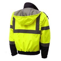Lime, 3-IN-1, Class 3 Jacket w/Ripstop Bottom