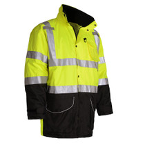 Heavy weight winter 7-IN-1 jacket all called All season jacket. Zip out liner can be used as Class 2 body warmer and out shell can be used as Rain gear.