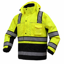 Class 3 Brilliant Zipper Waterproof Jacket ONYX Winter jacket features Teflon fabric protector which increases the life time and durability for garment. The quilted liner plus removable fleece lining provides extra warmth in winter time. Best seller in Parkas