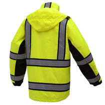 Onyx 3-in-1 Lime Waterproof Ripstop Parka Jacket