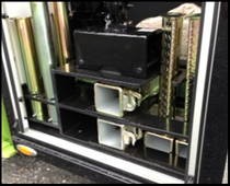 STORAGE: TIRE LIFT/BUS ARMS/RATCHETS Jerr-Dan PN  1001170960S                                                         - Ratchet Storage Bracket - Ratchet Tray Small Channel - Ratchet Tray Large Channel - Ratchet Tray Small Pad - Ratchet Tray Large Pad - Bus Arm Storage Accessory - Hardware