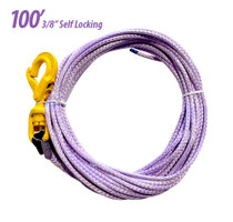 100 foot synthetic winch cable tow rope.