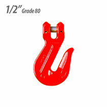 Clevis Cradle Grab Hook, Yoke Grade 80, 1/2""