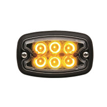 M2 Strobe LED Flasher Yellow W/ White Lens