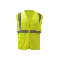 Class 2 Mesh Zipper Vest Lime, Class 2