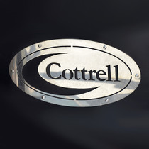 Cottrell Mud Flap Logo  - Make your car hauler look great!