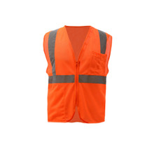 Class 2 Mesh Zipper Vest Orange