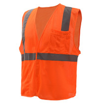 GSS Class 2 Mesh Hook & Loop Safety Vest, Orange
