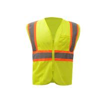 GSS Class 2 Mesh 2-Tone Zip Vest, Lime