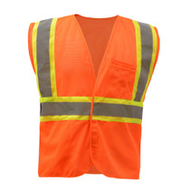 GSS Class 2 Mesh 2-Tone Hook & Loop Vest, Orange