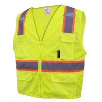 GSS 6-Pocket Safety Vest in Lime