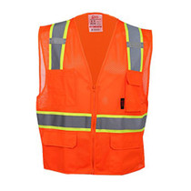 Class 2, 6-Pocket Multivest, Two Tone, Orange