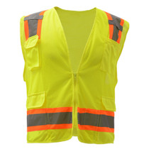 GSS Class 2 Fall Protection Vest, 2 Tone, Lime