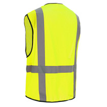 GSS Class 2, 6-Pocket Multi Vest, Mesh Zipper, Lime