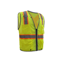 GSS Class 2 Hyper-Lite, X Back, Vest, Lime