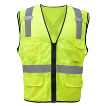 GSS Class 2 Utility Safety Vest, X Back, Lime