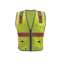 GSS Class 2 Hyper-Lite Vest with Black Sides, Lime