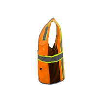 GSS Class 2 Hyper-Lite Vest with Black Sides, Orange