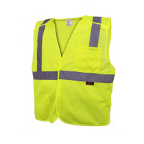 GSS Economy Class 2, 5 Point Breakaway Vest, Lime