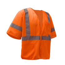 GSS Class 3 Mesh Zip Vest, with Sleeves, Orange