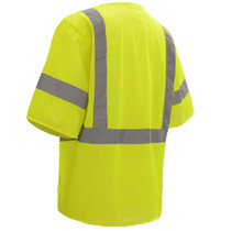 Class 3 Mesh Hook & Loop Vest with Sleeves, Lime