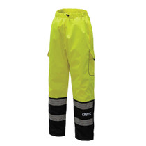 Hi-Vis ONYX Class E Rain Pants, Lime | GSS