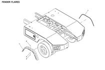 FENDER FLARE 1.62 PLASTIC W/O   | Jerr-Dan