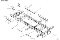Jerr-Dan Replacement Bed Lock Wear Pad 0.38in X 4in X 10in