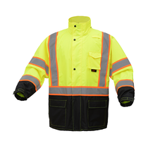 GSS Premium Class 3 Raincoat W/2-Tone Reflective Strip
