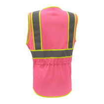Two-Tone GSS Ladies Pink Series  Safety Vest