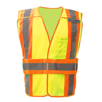 Standard Class 2 Expandable Breakaway Vest Lime