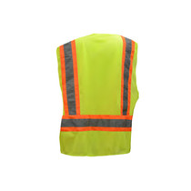 "Class 2 Two Tone Fire Treated Breakaway Vest GSS | OEM Part Number: 3505 2"" Silver Reflective Tape NFPA 701 (2004) Treated Fabric One left chest 2-tier and 4-division pocket, one lower right inside w/ reinforced stitching Certification: ANSI/ISEA 107-2015 Type R Class 2 / NFPA 701 (2004)"