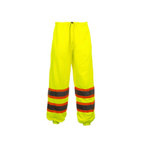 CLASS E STANDARD MESH PANTS LIME GSS | OEM Part Number: 3801 100% Polyester Mesh Pant 2 Upper Slash Through Pockets Certification: ANSI/ISEA 107-2015 Class E