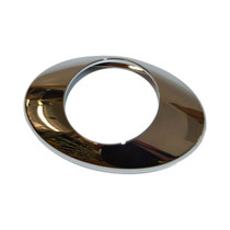 Replacement bezel for M3 amber LED lite with clear lens.  Chrome Plastic.