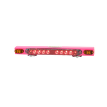 "21"" Pink wireless magnetic taillight system w/ supplemental amber indicators provides stop, tail, and turn signals with ease. Twenty dollars from each unit purchased will be donated to the Susan G. Komen foundation for breast cancer research and awareness"