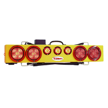 "The new generation of the TM36, this 36"" wireless truck bar system provides stop, tail, and turn w/ side marker lights on each end and three DOT lights in the center of the bar."