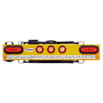 """This 37"""" wireless truck bar system provides stop, tail, and turn w/ side marker lights on each end and three DOT lights in the center of the bar."""