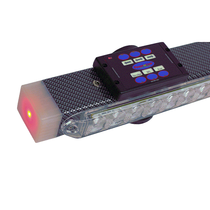 "59"" LED light bar features four evenly spaced light heads on the front, four on the back, and new style end caps that are active. In addition, the bar features two high intensity work lights and 'green wire' compatible wireless S/T/T lights. Includes HWTX"